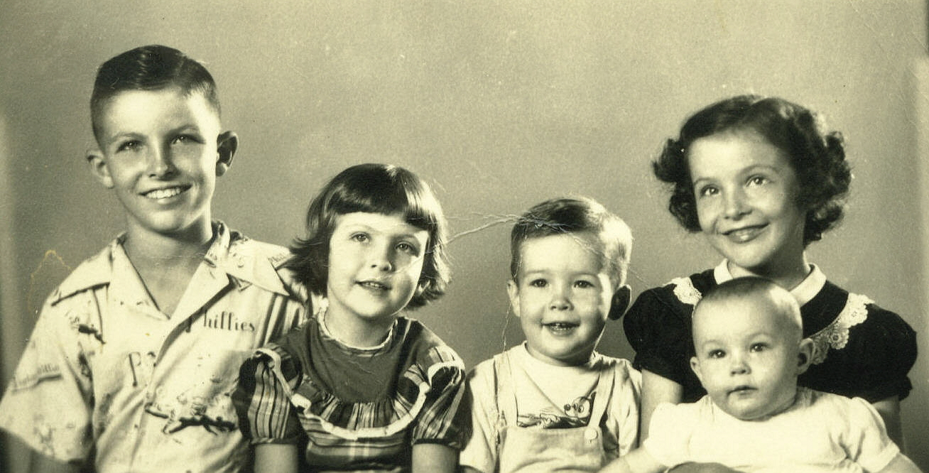 Donald, Mary, Gene, Dorty, Emmet circa 1950 Portrait