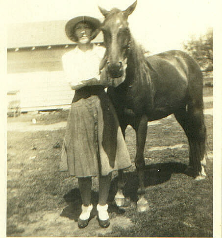 Frances with her horse Sheba