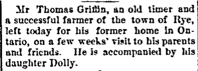 Article in Grand Forks Paper, 1886