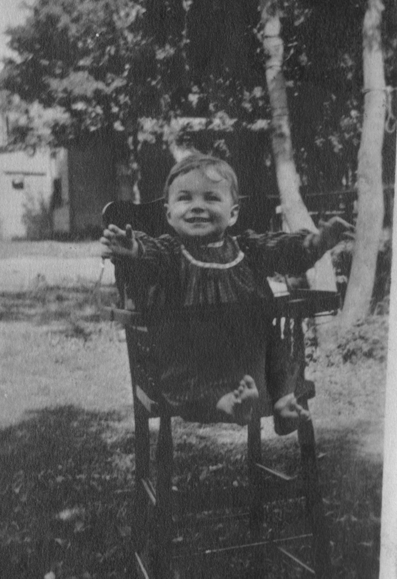 Vin In High Chair, Age 1, 1913