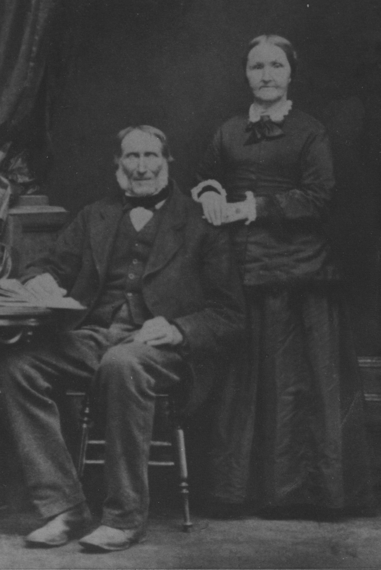 Thomas Griffin and Jane Saunders Griffin, circa 1883