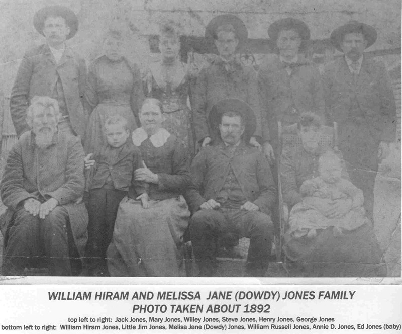 Annie Bennett Jones with her Husband's Family
