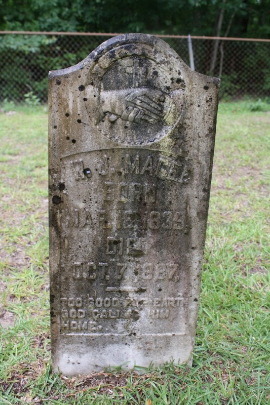 Tombstone birthyear of 1839 is in error. Father Evan Magee long dead before then.