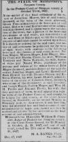 1847 Jackson MS Newspaper Announcement of Jonathan Magee Probate