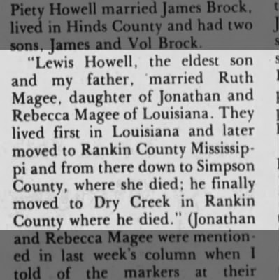 Lewis Howell Newspaper Article
