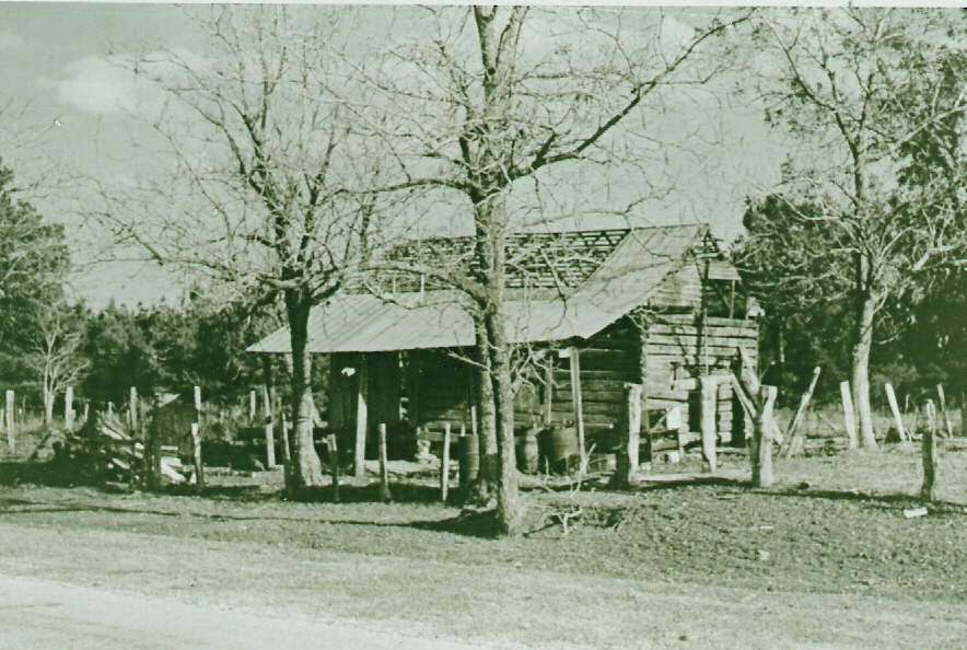 Picture taken of the old Bennett home (circa 1930.)