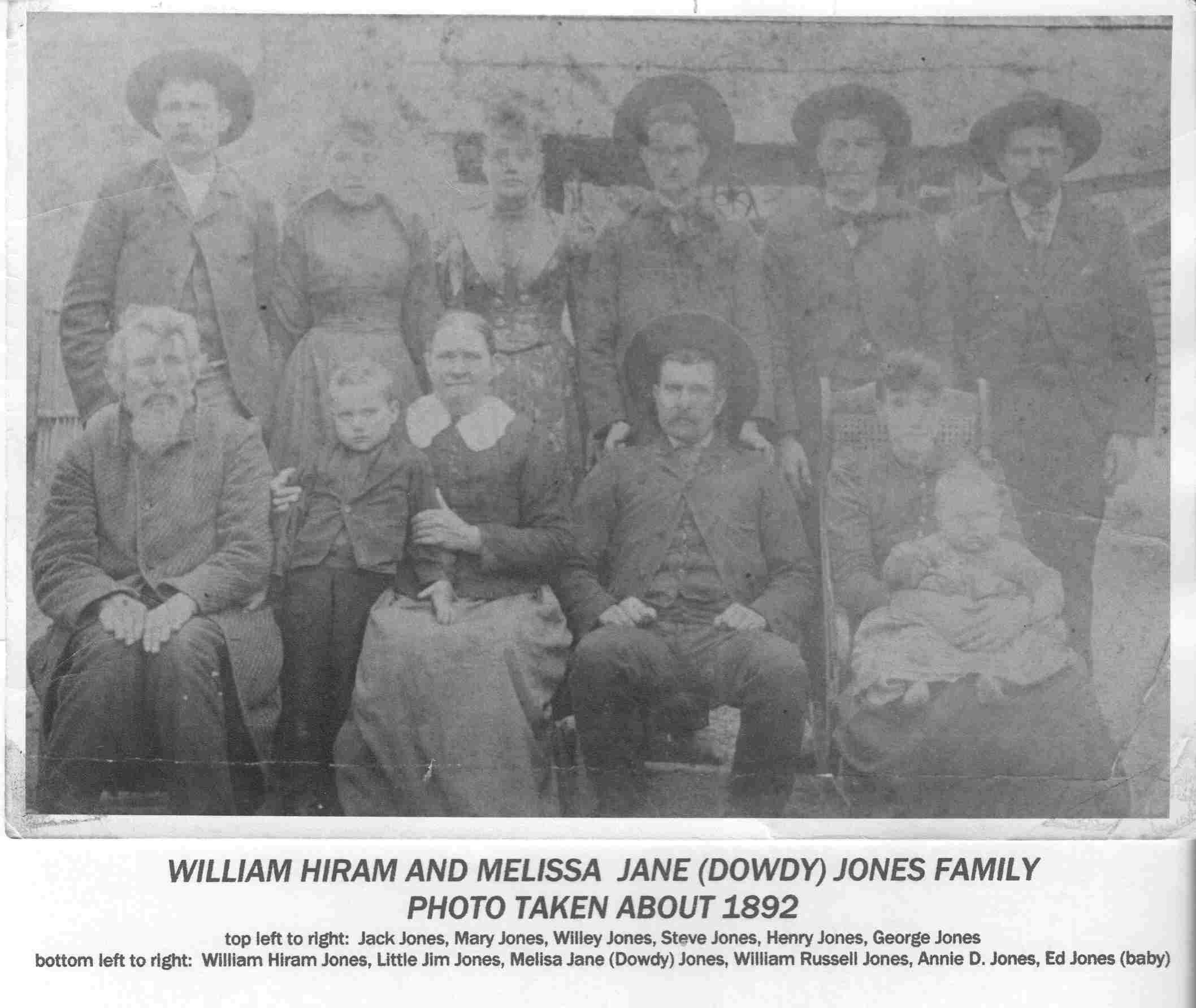 Annie D photographed with her Jones Relatives