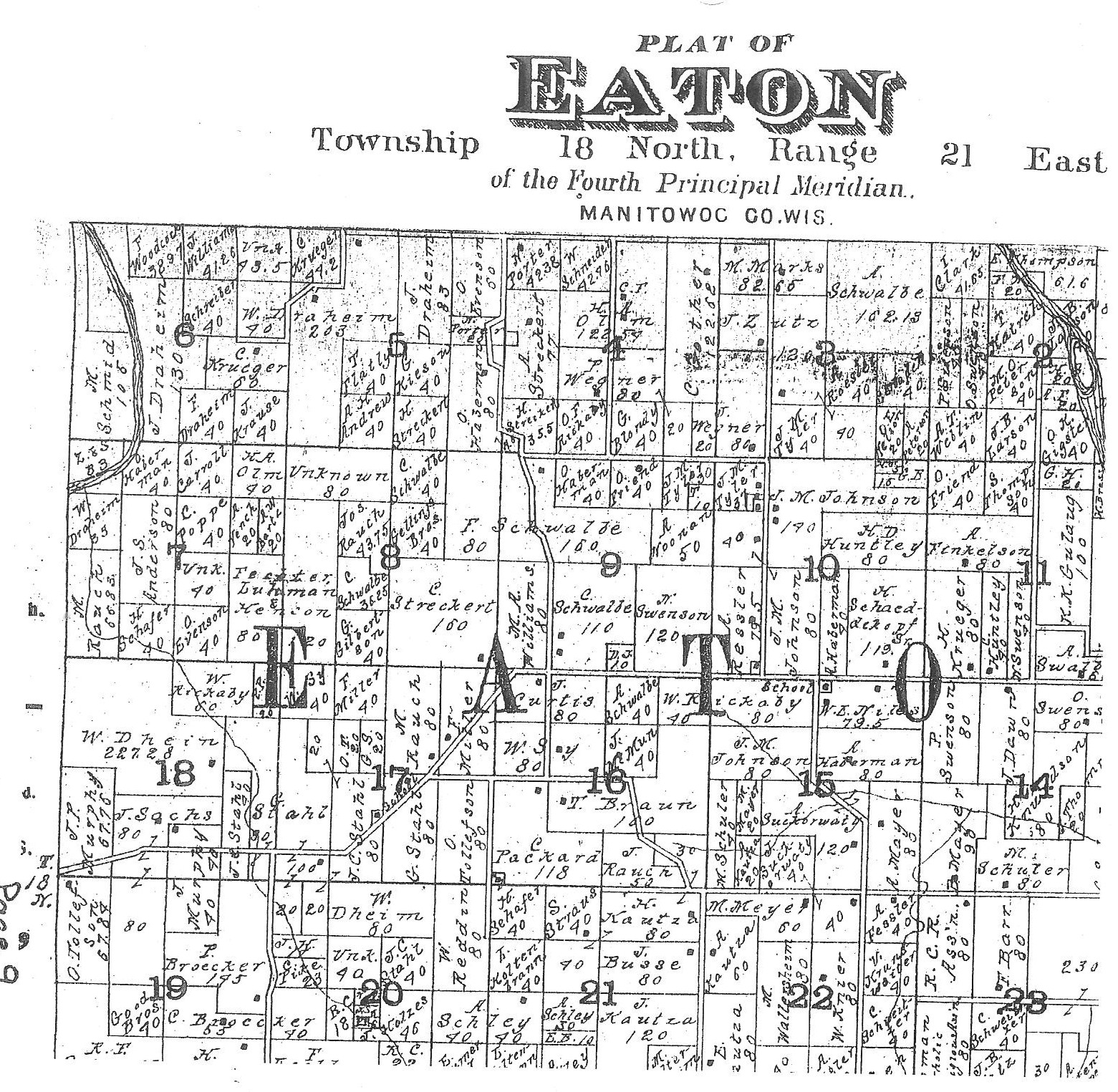 1900 Plat of Simon's Land - where Mary Ann remained