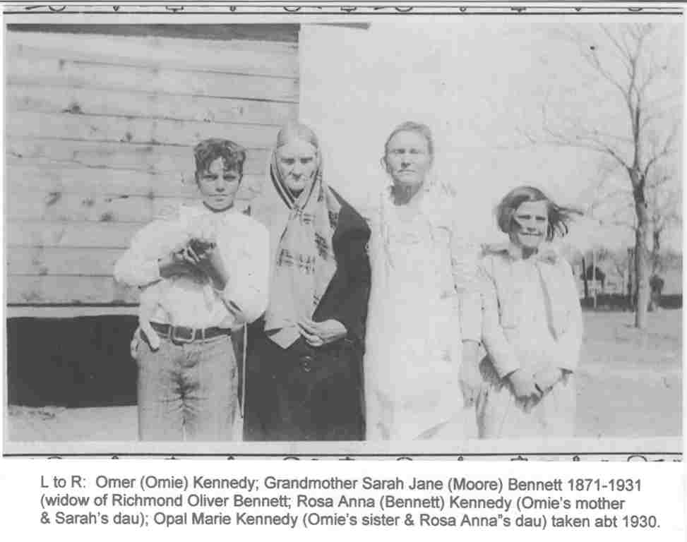 Sarah Jane with daughter Rosa and grandchildren Omie and Opal Kennedy