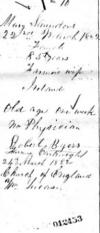 Mary Saunders Death Record from Durham Co Ontario