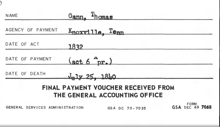 Record of Final Voucher from Pension (National Archives)