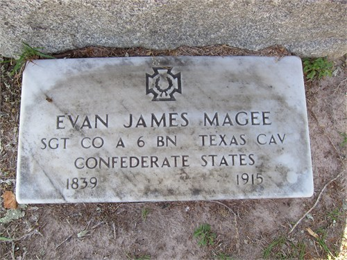 Evan Magee Confederate Military Tombstone